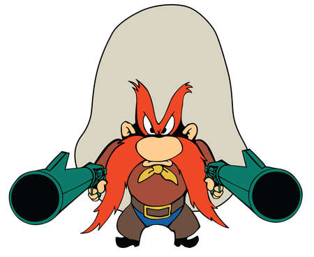 yosemite sam gun illustration cartoon character