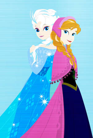 frozen queen elsa princess anna metallic illustration ice Publikacyjne