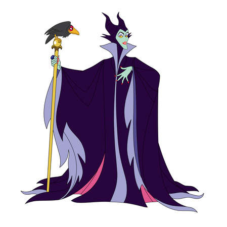 maleficent cartoon illustration character evil fairy