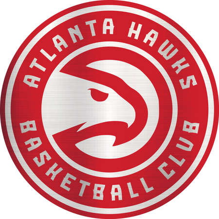atlanta hawks logo emblem metallic