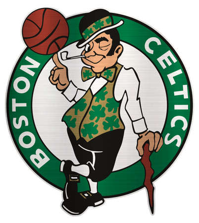 Boston Celtics metallic illustration basketball Editorial