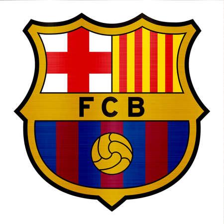 barcelona metallic logo illustration