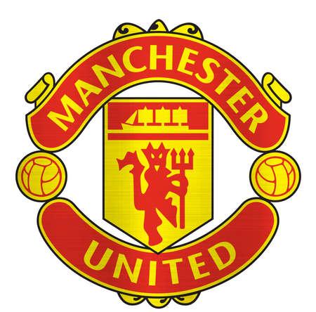 Manchester United metallic logo illustration