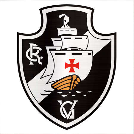 Club de Regatas Vasco da Gama logo metallic illustration sport Imagens - 104747786