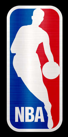 NBA metallic illustration basketball sport