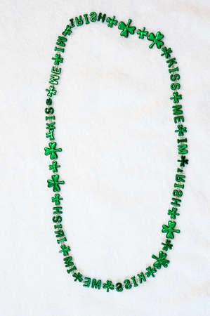 kiss me im irish green beads St patricks day festive