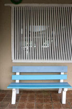 bench seat  indoors nobody  tiles floor architecture