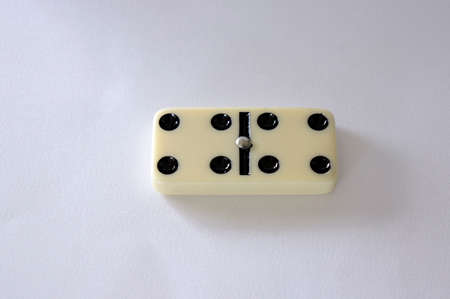 domino isolated white background four game piece