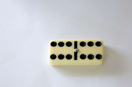 domino isolated white background six game piece Stock Photo