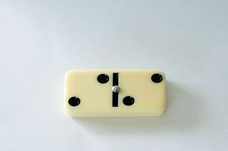 domino isolated white background two game piece