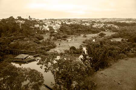 Park Tangua city Curitiba view hill outdoors landscape vintage