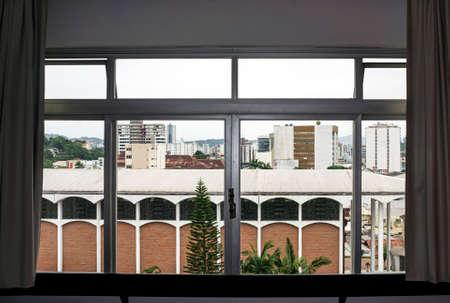 window view  downtown Blumenau  city Brazil day Stock Photo