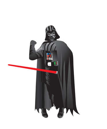 Darth Vader star wars illustration red sword