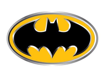 illustration batman logo symbol hero Standard-Bild - 104747996