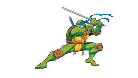 Teenage Mutant Ninja Turtles Leonardo illustration