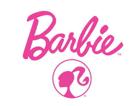 barbie logo pink illustration Redactioneel
