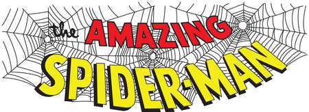 amazing spiderman cobweb illustration Stockfoto - 104748019