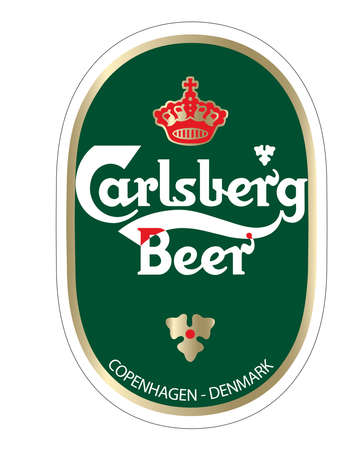 carlsberg beer illustration logo