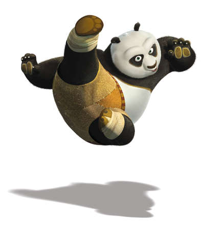 master Po Ping kung fu panda illustration cartoon warrior