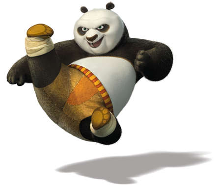 master Po Ping kung fu panda illustration warrior 에디토리얼