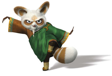 Master Shifu kung fu panda illustration cartoon warrior