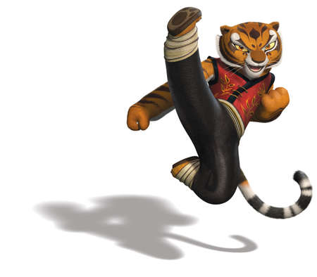 Master Tigress kung fu panda illustration cartoon jump