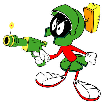 Duck Dodgers Marvin illustration cartoon Sajtókép