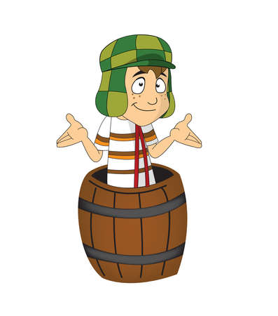 El Chavo del ocho  barrel illustration cartoon character 新聞圖片