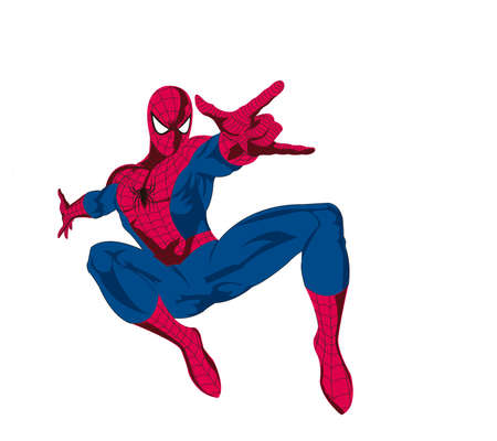 spideman power hero illustration action