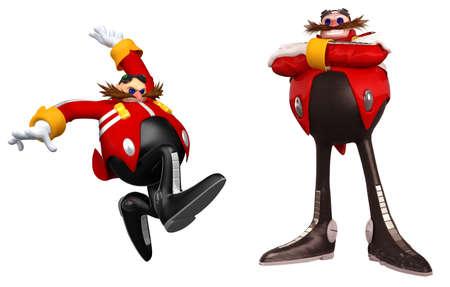 Sonic The Hedgehog illustration Dr. Ivo  villain character