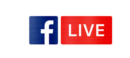 Facebook live streaming social media illustration metallic Editöryel