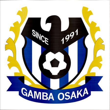 Gamba Osaka Football Club logo metallic illustration sport