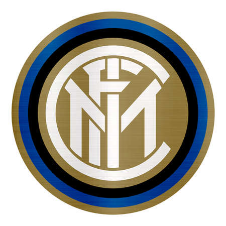 Internazionale Football Club logo metallic illustration sport