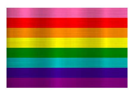 metallic lgbt pride rainbow flag illustration
