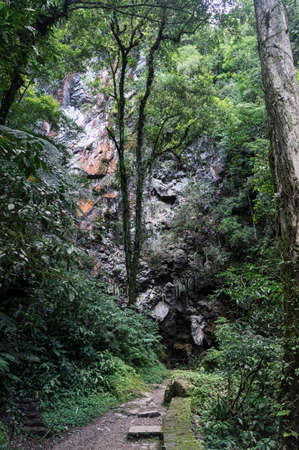devils cave entrance Brazil walkway outdoors geology scenic