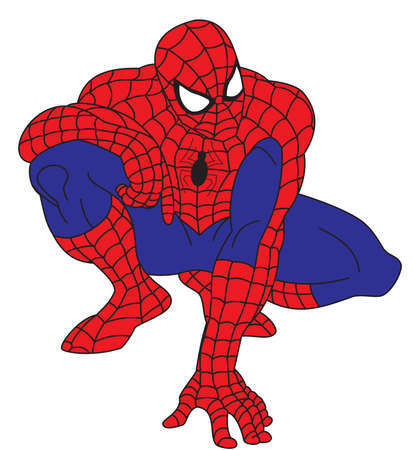 spideman power hero illustration thinking