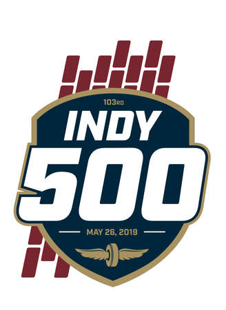Indy 500 Motor Speedway car racing logo Editorial
