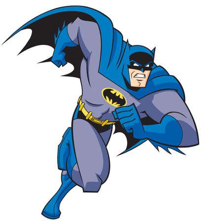 Batman retro vintage illustration power hero running Standard-Bild - 104750484