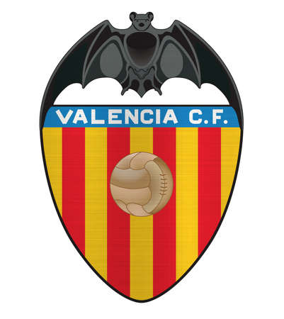 Valencia CF Logo espana football metallic Redactioneel