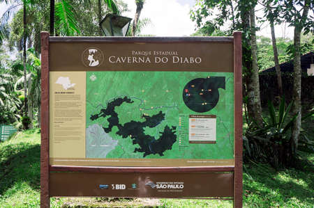 map information devil cave Brazil tourism location