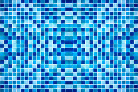 blue mosaic tile pattern square texture Stock Photo