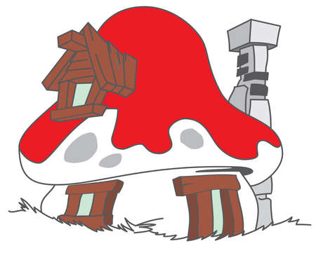 house smurf cartoon illustration mushroom 報道画像