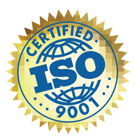 iso 9001 certified international illustration quality certified