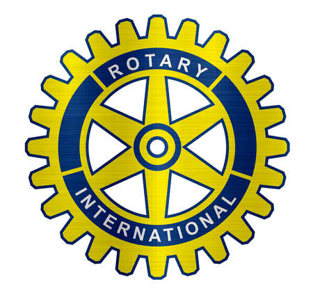 Rotary Club international organization logo metallic illustration