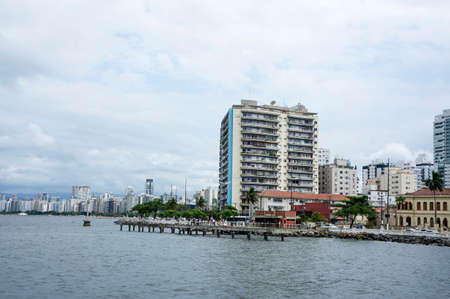 coast view of city Santos, Brazil Stock Photo