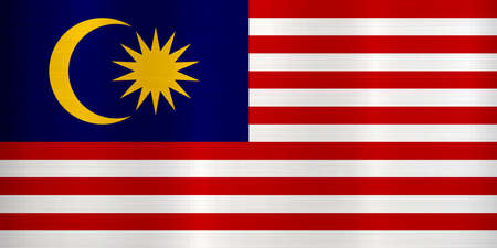 malaysia flag asia metallic illustration country
