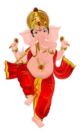 Ganesha hindu lord faith mythology bless god illustration