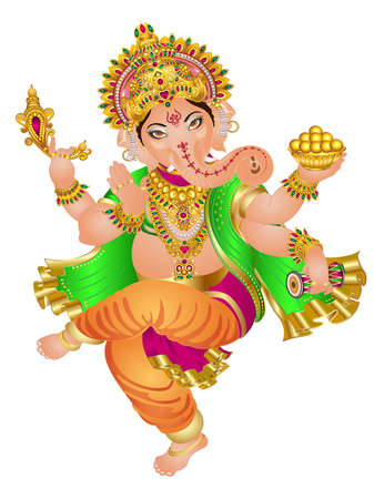 Ganesha hindu lord faith mythology bless god illustration  Asia