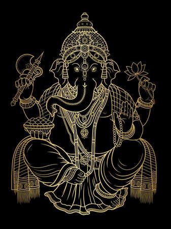 Hindu lord Ganesha vector illustration