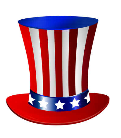 american topper independence day hat illustration